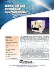 750 Watt DBS-Band Antenna Mount High Power Amplifier