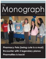 February/March - University of Toronto's Undergraduate Pharmacy ...