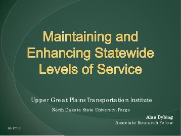 Level of Service of the Statewide System