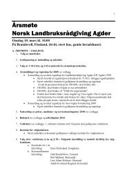 Saksliste - Norsk Landbruksrådgiving Agder