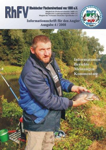 Bezirks-Fischertag 2008 - Rheinischer Fischereiverband von 1880 eV
