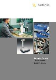 Sartorius Factory Kosten senken – Qualität sichern