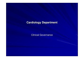 7. Clinical Indicators Cardiology Presentation - Southern Health and ...