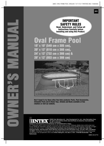 Oval frame pool manual