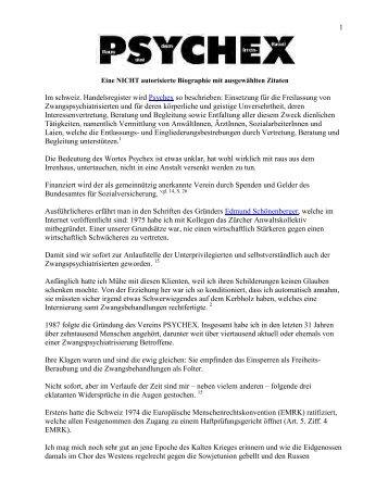 D. H.: PSYCHEX - Antipsychiatrieverlag
