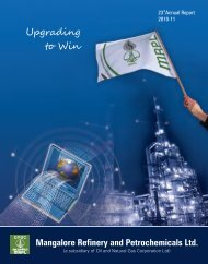 Annual Report for 2010-11 - Mangalore Refinery and ...