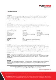 Technical Data Sheet product - Vosschemie