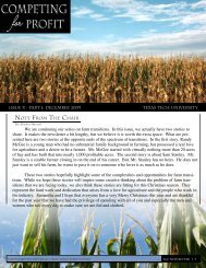 Issue X – Part I - Department of Agricultural and Applied Economics ...