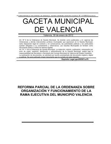 reforma parcial de la ordenanza sobre organización y ...
