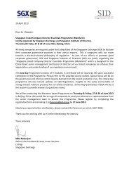 29 April 2013 Dear Sir / Madam Singapore Listed Company Director ...