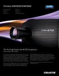 Christie D4K2560/D4K3560 - Christie Digital Systems