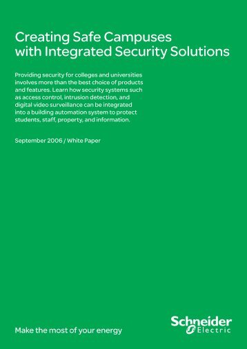 Creating Safe Campuses with Integrated ... - Schneider Electric