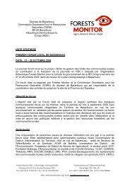CEPECO ONGD / asbl - Forests Monitor
