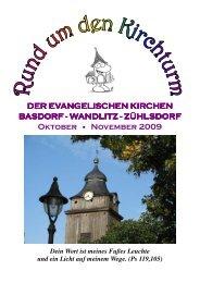 für Oktober und November 2009 - Kirche-basdorf.de