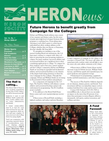 Future Herons to benefit greatly from Campaign for the Colleges