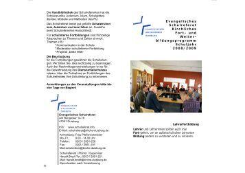 Fortbildungen Schulreferat - Evangelischer Kirchenkreis Duisburg