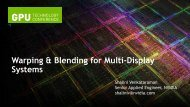 Warping & Blending for Multi-Display Systems - GTC 2012