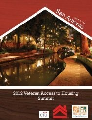 2012 housing summit program - National Coalition for Homeless ...
