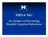 MRSA Me! - Washington State Hospital Association