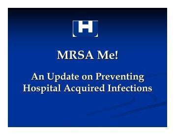 MRSA Me! - Washington State Hospital Association