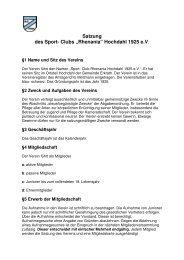 """Satzung des Sport- Clubs """"Rhenania"""" - SC Rhenania Hochdahl ..."""