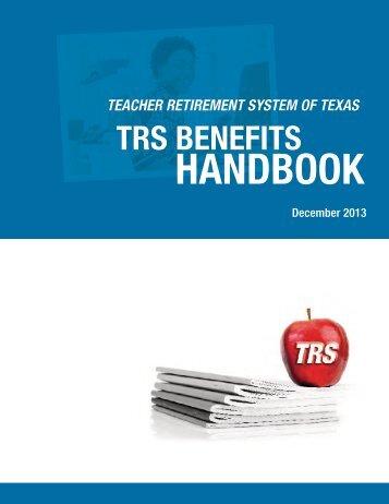 Benefits Handbook - TRS