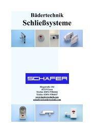 Schließsysteme - Schäfer Bädertechnik