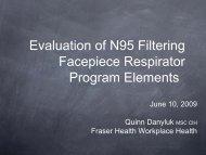 Evaluation of N95 Filtering Facepiece Respirator ... - Fraser Health