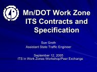 Mn/DOT Work Zone ITS Contracts and Specification - AASHTO ...