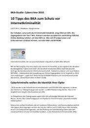 10 Tipps des BKA zum Schutz vor InternetkriminalitÄt