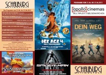PROGRAMM VOM 21.06. BIS 27.06.2012 - Cineprog