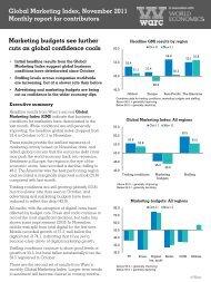Global Marketing Index, November 2011 Monthly report for ... - Warc