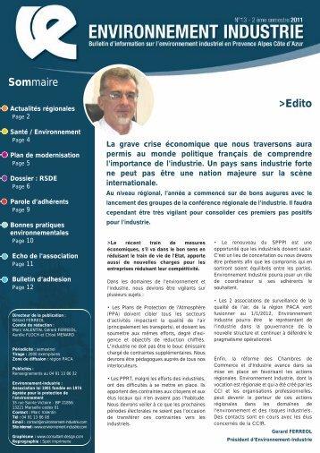 Bulletin n°13 - Environnement-Industrie