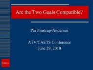 Are the two Goals Compatible?