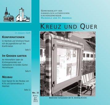 April/Mai 2013 - Ev-luth. Kirchengemeinde Hannover-Hainholz