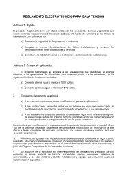 REGLAMENTO ELECTROTECNICO PARA BAJA TENSION - Endesa