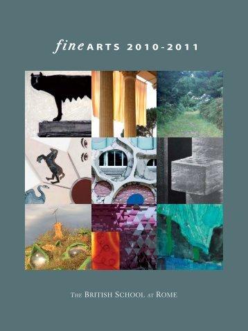 fine ARTS 2010-2011 - The British School at Rome