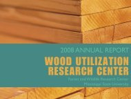 2008 Annual Report - Forest and Wildlife Research Center ...