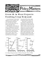 Growth in Meat Exports Feeding Crop Demand - Agricultural Policy ...