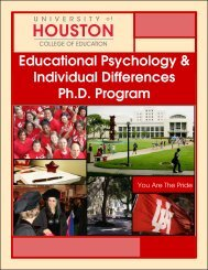 Educational Psychology & Individual Differences Ph.D. Program