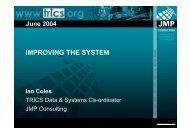 IMPROVING THE SYSTEM - TRICS