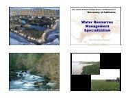 Water Resources Management Specialization - Bren School of ...