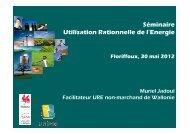 Présentation par le Facilitateur URE - unipso