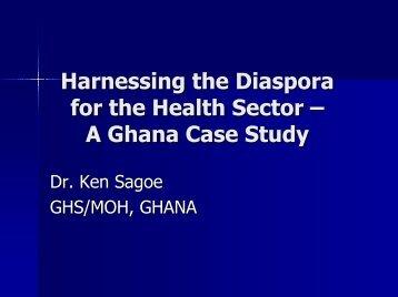 Dr Ken Sagoe Director of Human Resources ... - FindaJobinAfrica