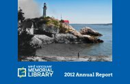 2012 Annual Report - West Vancouver Memorial Library