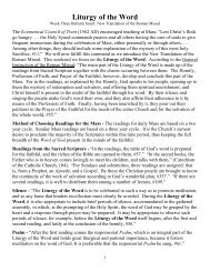 Liturgy of the Word - Diocese of Baker