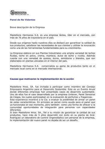 Panel de no videntes. RSE. - Consejo Empresario Argentino para el ...