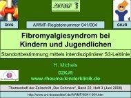 Fibromyalgiesyndrom bei Kindern und Jugendlichen