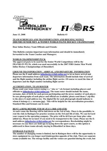 to see The main body of Bulletin #3 - FIRS