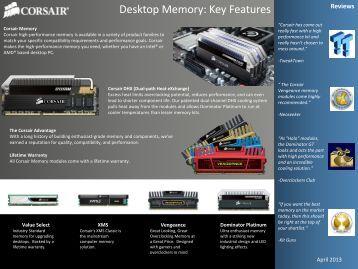 Desktop Memory: Key Features - Corsair